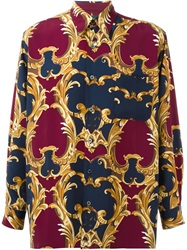 Jean Paul Gaultier Vintage 'Baroque' Printed Shirt Multicolour