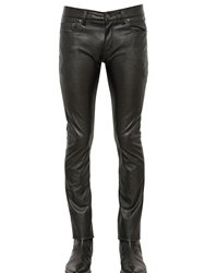 Saint Laurent 15.5Cm Stretch Faux Leather Jeans Black