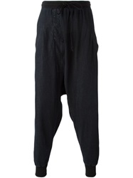 Lost And Found Rooms Drop Crotch Trousers Black