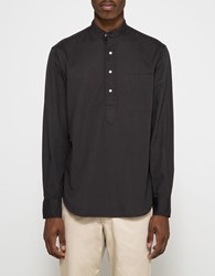 Gitman Brothers Vintage Band Collar Popover Oxford Charcoal