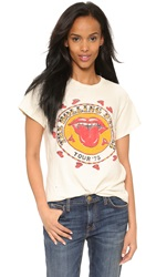 Made Worn Rolling Stones 1978 Rock Printed Tee Dirty White