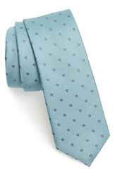 Men's Calibrate 'Sorbet Neat' Silk Tie Mint