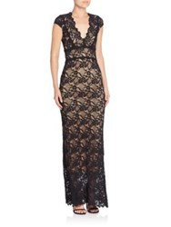 Nightcap Clothing Gardenista Lace Gown Black