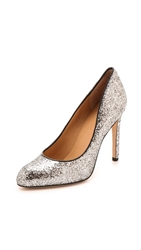 Marc By Marc Jacobs Clean Sexy Sequin Pumps Silver Black