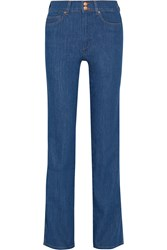 Mih Jeans Berlin High Rise Straight Leg Jeans Blue