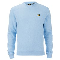 Lyle And Scott Vintage Men's Crew Neck Sweatshirt Blue Marl