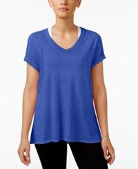 Calvin Klein Performance Burnout T Shirt Royal Blue