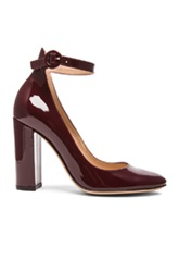 Gianvito Rossi Patent Leather Mary Jane Heels In Red
