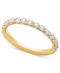 Macy's Pave Diamond Band Ring In 14K White Or Yellow Gold 1 2 Ct. T.W.