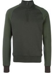 Armani Jeans Zipped Funnel Neck Sweatshirt Grey