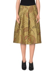 Roberto Collina 3 4 Length Skirts Beige