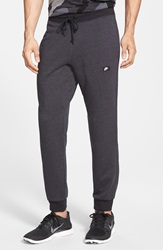 Nike 'Aw77' French Terry Knit Jogger Pants Anthracite Black Heather
