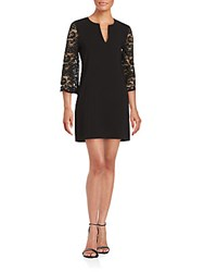 Bcbgmaxazria Solid Lace Dress Black