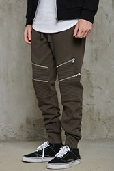 Forever 21 Zippered Joggers