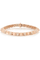 Anita Ko Spike 18 Karat Rose Gold Diamond Bracelet