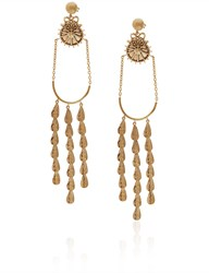Sophia Kokosalaki Gold Lunar Hail Chandelier Earrings