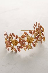 Anthropologie Catalina Leaf Headband Gold