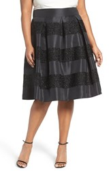 Eliza J Plus Size Women's Texture Stripe Jacquard Full Skirt