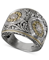 Effy Collection Balissima By Effy Diamond Swirl Ring 1 3 Ct. T.W. In 18K Gold And Sterling Silver