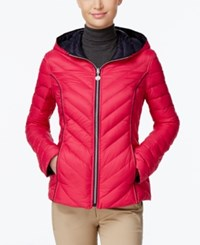 Nautica Reversible Hooded Packable Puffer Coat Only At Macy's Dark Rose Marine