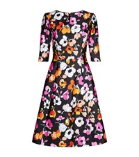 Oscar De La Renta Poppy Print Mikado Dress Female Multi