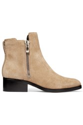 3.1 Phillip Lim Alexa Suede Ankle Boots Beige