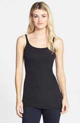 Petite Women's Halogen Long Layering Tank Black