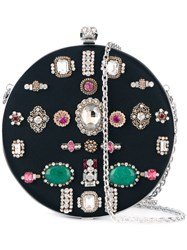 Alexander Mcqueen 'Skull' Circle Clutch Black