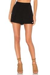 1. State Side Ruffle Short Black