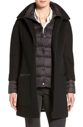 Soia And Kyo Women's 'Lettie' Quilt Detail Wool Blend Coat