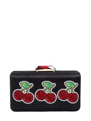 Kotur Cherry Jackpot Printed Satin Clutch