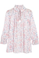 Zimmermann Zephyr Printed Cotton Blouse Ivory