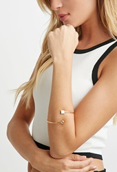 Forever 21 Geo Charm Bracelet Cuff Gold