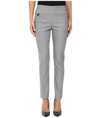 Lisette L Montreal Solid Magical Lycra Ankle Pants Brushed Nickel Women's Casual Pants Silver
