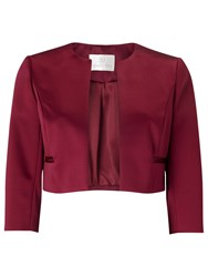 Jacques Vert Petite Sateen Jacket Mid Purple