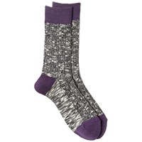 Anonymous Ism Contrast Marl Sock Black And Purple