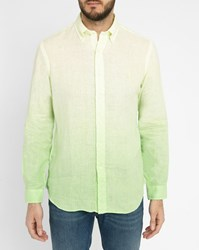 Polo Ralph Lauren Lime Tie Dye Linen Shirt Green