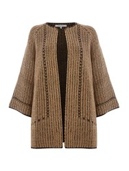 La Fee Maraboutee Large Knit Cardigan Brown