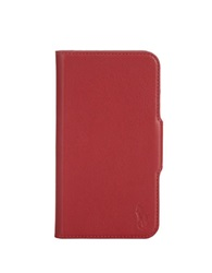 Polo Ralph Lauren Pebbled Red Leather Samsung Phone Case