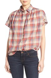 Women's Madewell Plaid Boxy Cotton Shirt