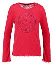 Pepe Jeans Becca Long Sleeved Top Berry Red