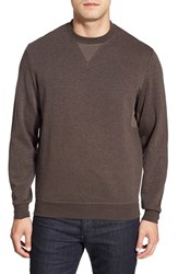 Men's Bugatchi Long Sleeve Knit Sweatshirt Chocolate