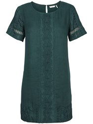 Fat Face Olivia Embroidered Dress Emerald