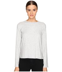 Theory Ranzini Ribbed Viscose Sweater Frosted Grey