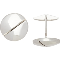 Barneys New York Silver Screw Cufflinks