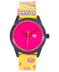Harajuku Lovers Unisex Solar Emoji Pizza Time Strap Watch 40Mm Hl2310