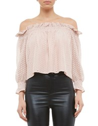 Bardot Milly Off The Shoulder Top Pink
