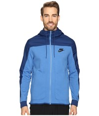 Nike Nsw Av15 Hoodie Full Zip Ssnl Star Blue Coastal Blue Black Men's Sweatshirt