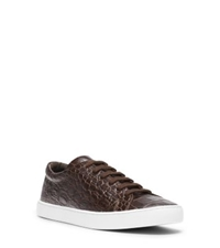 Michael Kors Jake Embossed Leather Sneaker Chocolate