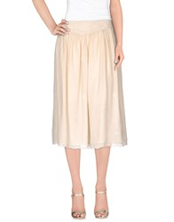 Antik Batik Skirts 3 4 Length Skirts Women Beige